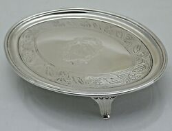 Scottish Georgian Teapot Stand Or Card Tray Solid Silver Ed 1800 Ovv