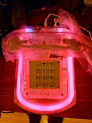 Vintage Roxanne Clear Lucite Pink Neon Telephone