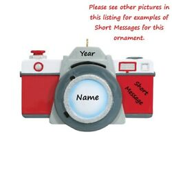 Camera Photography Photographer Personalized Christmas Tree Ornament Dated Gift