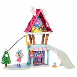 Enchantimals Hoppinandrsquo Ski Chalet 25-in With Bevy Bunny Doll 6-in And Jump Animal...