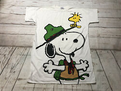 Vtg 1994 Snoopy Beagle Scout Peanuts Womens One Size Fits All Sleep Shirt NWT