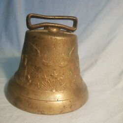 Rare Us Army Cavalry Camel Corp Bell Brass Insignia Starburst Antique 19th Cent.
