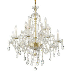 Crystorama Can-a1312-pb-cl-saq Candace Chandelier Polished Brass