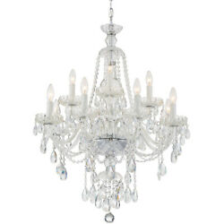 Crystorama Can-a1312-ch-cl-saq Candace Chandelier Polished Chrome