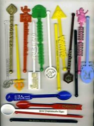41 Different Las Vegas Nevada And Casino And Hotel Swizzle Stir Sticks Mickey Mouse