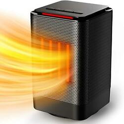 Space Heater, Electric Portable With Fan Only Mode, Ptc Ceramic, Quiet, Tip-over