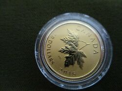 2016 Canadian Mint Gold Proof 10 Maple Leaf With Qe11 Blunt Effigy 2003