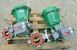 Fisher Type 2052 Vee-ball Pneumatic Steel Control Valve Used