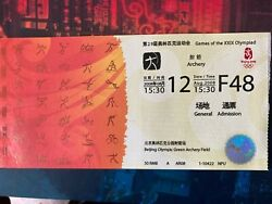 Beijing 2008 Olympic Ticket Collection - Bolt, Phelps Gold Events - Full Set -