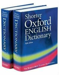 The Shorter Oxford English Dictionary Fifth Edition Volumes 1-2