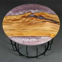 48'' Epoxy Resin Center Coffee Resin Wooden Table Top Home Furniture K4
