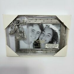Fetco home decor friends picture frame w hanging charm accent 6x4
