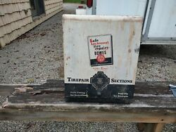 Vintage Bowes Seal Fast Tire Repair Display Cabinet Sign Gas Oil Service Station
