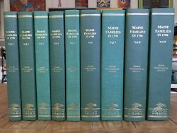 Maine Families In 1790 Volumes 1-9 Picton Press Genealogy Fine Condition