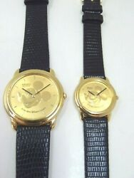 Seiko His And Hers Mickey Mouse Vintage Rare Watches 7n00-7a89 1n00-0j79 Don't Run