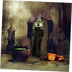 Hhwitch-9fls Life-size Animatronic Witch, Indoor/outdoor 72 Witch With Book