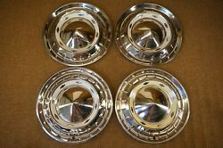 1955 Chevrolet Nomad Bel Air 15 Hubcaps Covertible 210 150 55