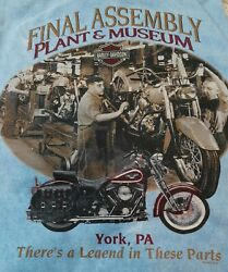 Harley Davidson 1997 Final Assembly Plant And Museum Tee New With Tags Vintage Nos
