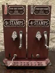 Vintage Schermack Coin Op 4 And 5 Cent Stamp Machine With Key Antique Mail Post