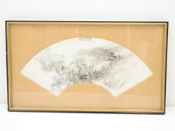 5614395 Chinese Art / 1880 Hand Painted Scenery / Framed Painting