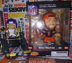 Nfl Teenymates 2019 Big Shot Ballers Browns Qb Baker Mayfield Fig - 4.5 Inches