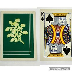 1j One Single Swap Playing Card Artistic Art King Of Spades Wide Rose Deco