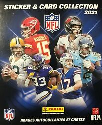 2021 Panini Nfl Football Sticker Collection Box 50 Packs 250 Stickers 50 Cards