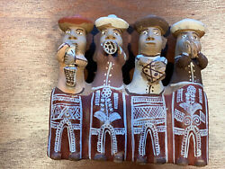 Vintage Peru Peruvian Hand Crafted Clay Pottery Flute Whistle