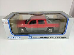 New Chevrolet Avalanche Red Pickup Truck Die Cast 118 Welly No.9852 Model Car