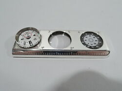 Ruler W/ Compass Thermometer Magnifying Glass - American Sterling Silver