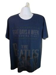 Official Licensed The Beatles 8 Days A Week Navy Blue Tshirt Size Xxl Free Ship