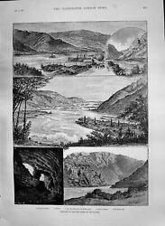 Old 1890 Iron Gates Danube Harbour Orsova Mount Arion Cave Dubova Kas Victorian