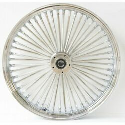 Dna Chrome Front Mammoth 52 Spoke 21x3.50 And 18x3.5 Rear Wheel 00-06 Flst Models