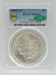 1882 Cc Morgan Dollar Us 90 Silver Coin Certified Pcgs Ms66+ Cac United States