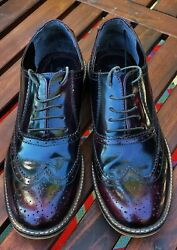 Red Tape Mens Southfork Brogue Wingtip Shoes In Oxblood Brown Size 13