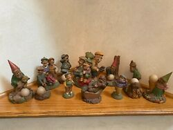 """11 Pc. Retired Vintage """"cairn Studio"""" Golf Theme Gnomes By Artists """"lee Sievers"""""""