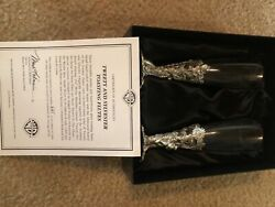 Warner Brothers Tweety And Sylvester Glass/pweter Limited Edt Decorative Flutes
