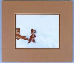 Disney Chip And Dale Original Cels Limited Rare Disney Difficult To Obtain