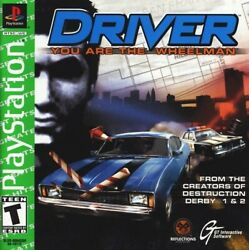Driver You Are The Wheelman Playstation 1, 1999 Ps1 Brand New   Rare