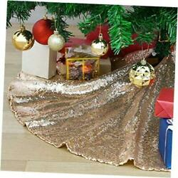 Christmas Decorations Large Tree Skirt Mats Decorations 48 inch Champagne Gold