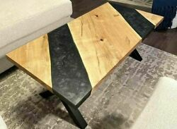 5and039x3and039 Epoxy Resin Coffee Table Top Handmade Home Furniture Decor Wooden K31