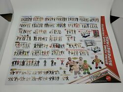 Wwe 2012 Action Figure Collection Poster And Power Slammers Double Sided Poster
