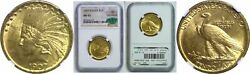 1907 10 Gold Coin Ngc Ms-62 Cac