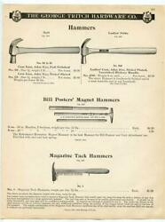 The George Tritch Hardware Co Tack Hammers And Magnet Hammers Catalog Page 1902