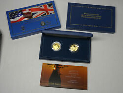 2020 Mayflower 400th Anniversary 2-coin Gold Proof Set In Original Packaging Ogp