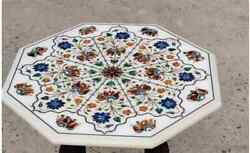 24 White Marble Table Top Coffee Center Home Decor Inlay Antique Elephant L8