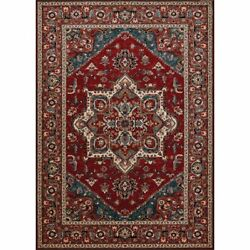 Old World Classic 6and0396w X 9and03910l Power-loomed Antique Mashad Area Rug In Red