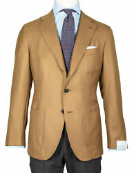 Caruso Jacket In Brown Beige With Patch Pockets Pure Cashmere Regeur1690