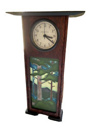 Beautiful Schlabaugh And Sons Motawi Pines Table Clock