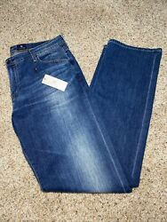 Mens 38x35 Ag Adriano Goldschmied The Protege Straight Leg Blue Jeans Nwt